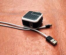 Apple iPad Charger Black Carbon Fiber Skin Lightning USB 10W Power Adapter