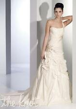 S253W ALYCE 7728 SZ 16 DIAMOND WHITE $1012 BEADED STRAPLESS  WEDDING DRESS GOWN