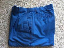 Brook Brothers 346 Advantage Blue Women Cufffed Shorts Golf 6 100% Cotton