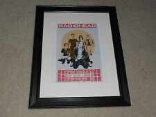 "Framed Radiohead 1996 Tour Mini-Poster, Chicago Metro, Thom Yorke  RARE! 14""x17"""