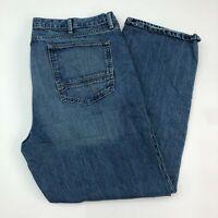 Arizona Jeans Mens 42X30 Blue Regular Fit Straight Leg 100% Cotton Medium Wash