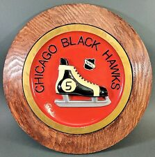 "Chicago Blackhawks NHL Bobby Hull #9 ~ 14"" Round Hockey Skate Wall Plaque Unique"