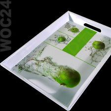 50 x 35 Kunststoff Melamin Serviertablett Frühstückstablett Tablett Apfel Grün