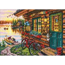 Dimensions Gold Collection Petites Counted Cross Stitch Kit Cabin View 5