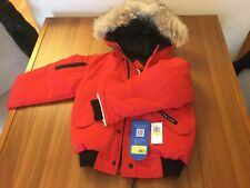 Canada Goose Rundle Bomber w/Detachable Fur Trim, Youth Red M