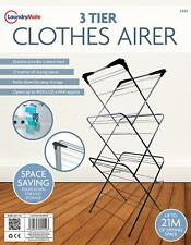 3 Tier Laundry Airer Dryer Bars Indoor Outdoor Clothes 21M