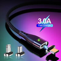 Magnetic Type-C Micro USB Fast Charger Cable For Samsung Galaxy S6 S7 S8 S9 S10
