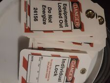 Danger Do Not Energize Equipment Lock-Out Tag-Out Polytag 25 pack accuform signs