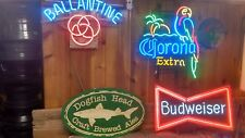 RARE XL Dogfish Head Brewery Beer Wood Wooden Craft 2 Sided Commercial Bar Sign