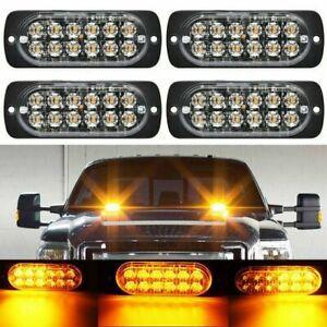 Universal 12LED Car Truck Emergency Beacon Warning Hazard Flash Strobe Light Bar