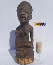 PREMIUM Tribal African Art - Bakongo Maternity Figure Sculpture Statue Mask