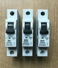 MK Sentry Type B MCBs LN 59-- Series 6 32 /& 40 Amp