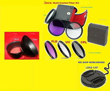 CAMERA ADAPTER+FILTER KIT+LENS CAP 72mm To FUJI S2500HD S2550HD S2600HD S2700HD