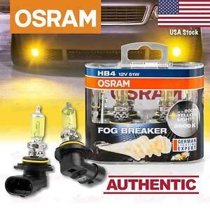 2x HB4 OSRAM Fog Breaker DuoBox YELLOW Spot Look Bulbs 2600K Lamps for FRONT FOG
