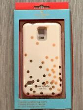 Kate Spade Hybrid Hardshell Case Confetti Dot Gold Cream for Samsung Galaxy S5
