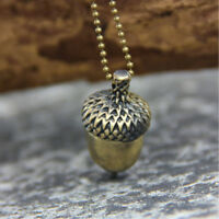 Fashion Women  Acorn Necklace Retro Charm Bronze Sweater Chain Jewelry Necklace