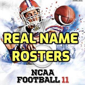 NCAA Football 03 04 05 06 07 08 09 10 11 Real Name R0sters PlayStation 2 PS2