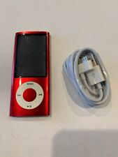 Apple iPod nano 5th Generation Red (8 GB) Small Engraving, Works Like New