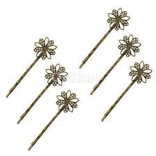 6pcs Hair Vintage Bronze Flower Hairpin Barrette Hair Clips Ornaments