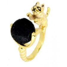 Anillos de bisutería color principal negro de esmalte