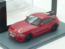 Nuevo 1:43 Neo Resina Mano BMW Z4 M Coupe S54 Motorsport recta 6 Imola Rojo