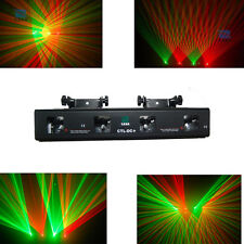 DMX Laser disco dj Light Stage 4 Lens 250mW RG Party Lighting show equipment