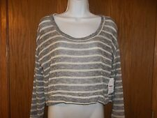 NEW WOMEN'S NOLLIE SWEATER SILVER GRAY HI LO SIZE M MSP $29.50