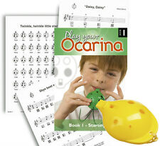 Plastic OCARINA, Yellow 4-hole, and Play Your Ocarina BOOK 1 with FREE DELIVERY