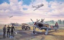 """""""Escadrille Normandie Niemen"""" Roy Grinnell Print Signed by 3 Free French Aces"""