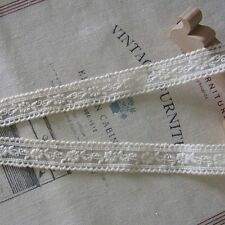Vintage Style Embroidered Tulle Lace Trim Double Edges Fabric Cream/Ivory 3Yards