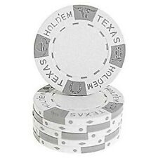 Fiches Clay Texas Hold em Bianco blister 25 pz.