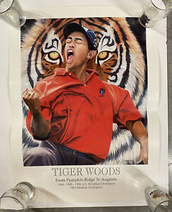 Tiger Woods 1997 Masters Champion Poster - Unique - Vintage