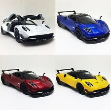 "Set of 4 New Kinsmart 5"" Pagani Huayra BC Diecast Model Toy Sport Super Car 1:38"