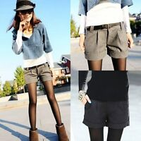 Plus Size Women Ladies Autumn Winter Warm Shorts Low Waist Casual Short Pants