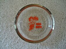 """Vintage Frisch's Big Boy Glass Ashtray """" GREAT COLLECTIBLE DISPLAYABLE ITEM """""""