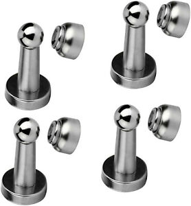 4X Stainless Steel Strong Magnetic Door Stop Stopper Holder Catch Door Suction