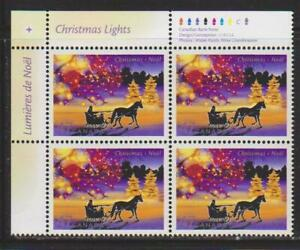 2001 Canada SC# 1922 UL - Christmas - Lights - Plate Block M-NH Lot # 3501