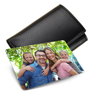 Personalised METAL Keepsake Mini Card for Wallet/Purse Insert Photo Gift Card