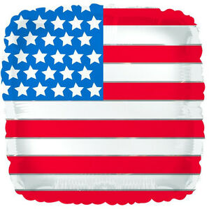 """4th OF JULY BALLOON 17"""" INDEPENDENCE DAY UNITED STATES OF AMERICA FOIL BALLOON"""