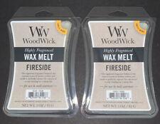 (2) WOODWICK Wax Melts FIRESIDE Scented / 3 Oz Each / Free Shipping
