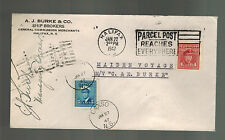 1947 Halifax Canada Cover Ship MS C&E Burke Mail boat Maiden Voyage