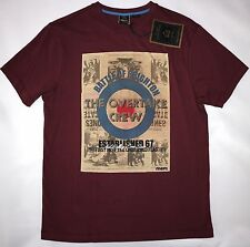 MERC MENS POSTER PRINT TEE SHIRT IN WINE SIZE M NWT