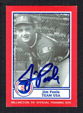 Jim Poole #13 signed autograph auto 1990 US Federation Team USA Card