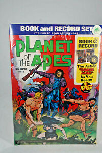 vintage 1976  Planet of the Apes  - Book and Record Set in Folie - Lagerfund
