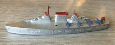 """Vintage Tootsie Toy Aircraft Carrier Boat With Planes Metal Toy 6"""""""