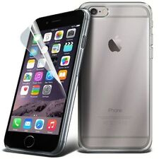 Clear Silicone Gel Case Cover & Free Screen Protector For Apple iPhone Models
