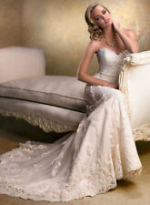 Charming White/Ivory Mermaid Wedding Dress Bridal Gown Custom Made 2 4 6 8 10 +
