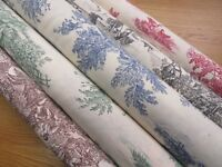 Rustic French Toile de Jouy Upholstery Curtain Shabby Chic Fabric
