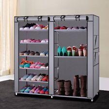 6 Tiers 12 Lattices Shoe Rack Shelf Storage Closet Organizer Cabinet With Cover