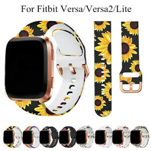 For Fitbit Versa 2/Lite Silicone Rubber Replacement Printed Band Strap Wristband